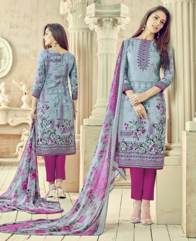 176035a887 ALOK ANIKA – Pure Jam Cotton fabric printed salwar suit with printed chiffon  dupatta