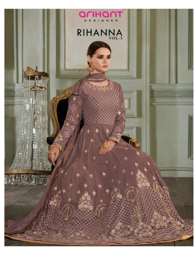 1854cb502f6 RIHANNA VOL 3 – Georgette and net fabric embroidery and hand work partywear anarkali  salwar kameez